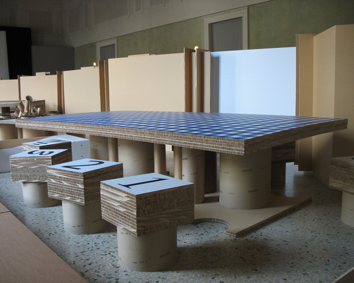 Mobili in cartone sekkei design sostenibile sedia in cartone
