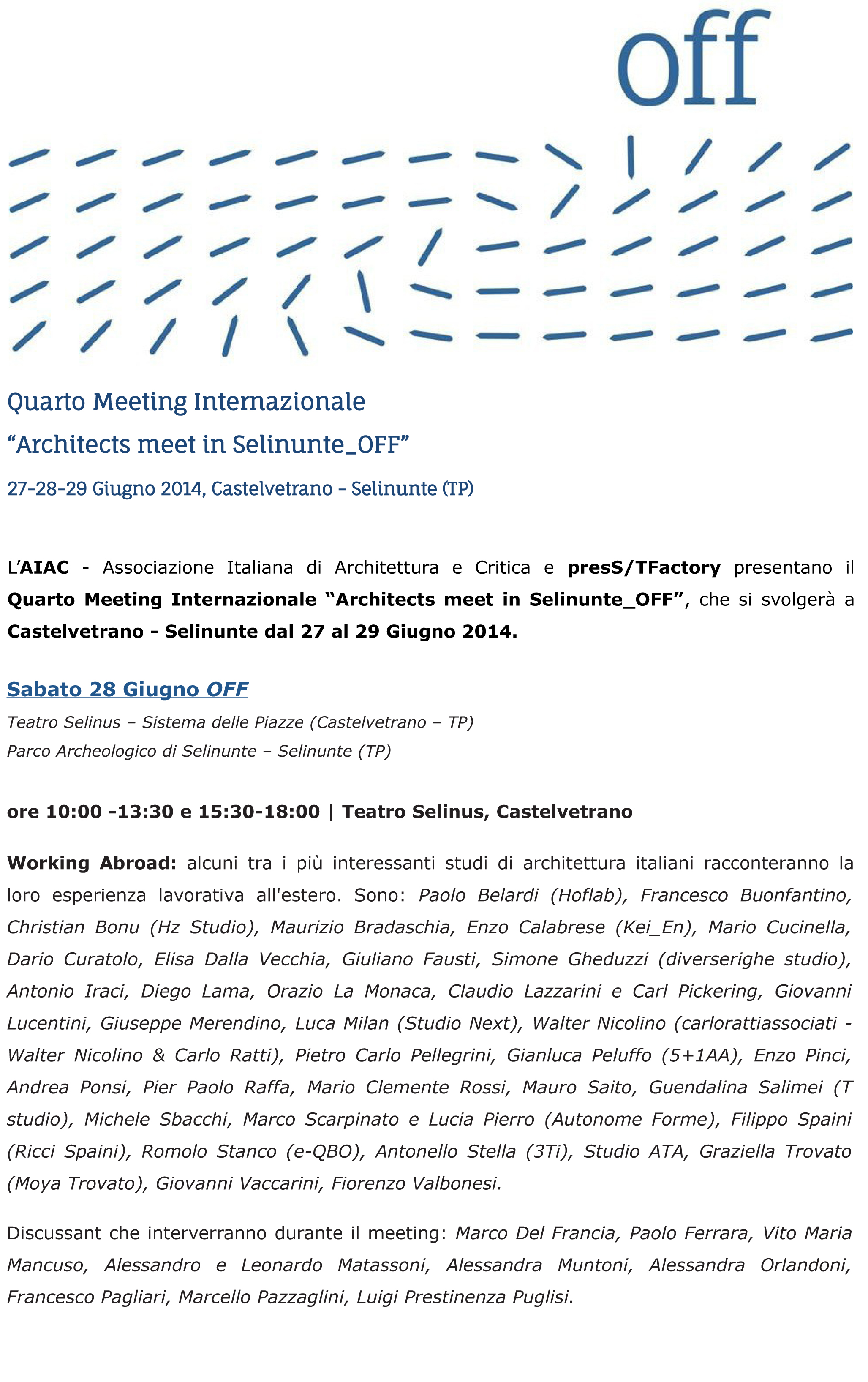 sito_ARCHITECTS MEET IN SELINUNTE_OFF programma